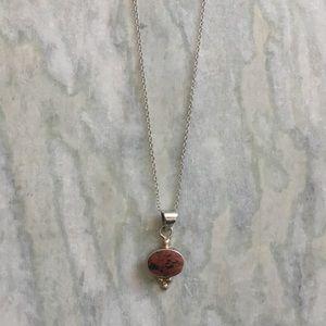 Vintage Rust Stone Pendant